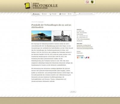 Historische Protokolle des Sächsischen Landtages - per Klick zur Startseite des Internetportals