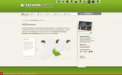 SACHSEN.digital - per Klick zur Startseite des Internetportals