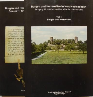 Burgen und Herrensitze in Nordwestsachsen, 2 Bände, Titelcover